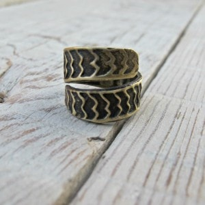 anillo latón